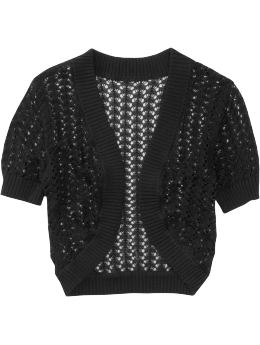 Oldnavy.com: Women: Wear to Work:Women's Crochet Shrugs :  black short-sleeved shrug cool