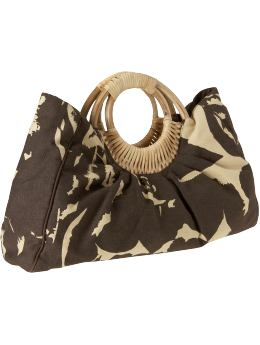 Oldnavy.com: Women: Women's Canvas Rattan-Handle Bags: Shoulder Bags & Clutches: Bags :  clutches womens bags oldnavy handle
