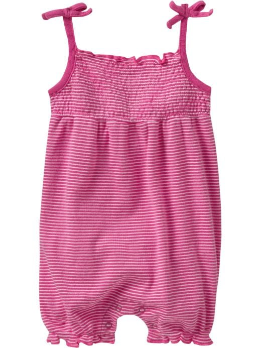 Baby Girl Clothes: Striped Bubble One-Pieces for Baby: Newborn Dresses & Rompers | Old Navy :  romper stripes baby old navy