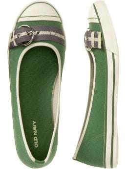 Oldnavy com Shoes Accessories Women s Canvas Buckle Skimmers Flats Skimmers Shoes Slippers from oldnavy.com