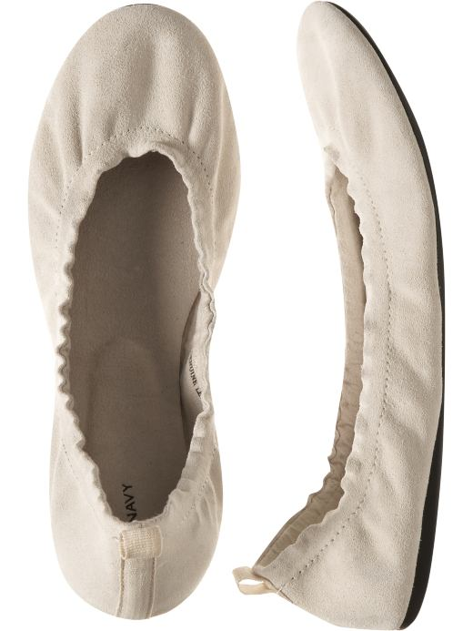 Women: Women's Stretch Suede Ballet Flats: Flats & Skimmers: Shoes & Slippers | Old Navy