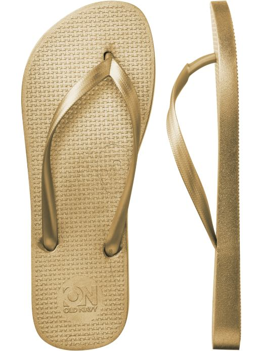 Women's Clothes: Women's New Metallic Flip-Flops: Flip-Flops Shoes & Slippers | Old Navy