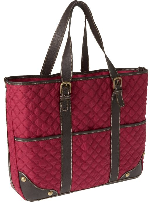 Shoes and Accessories: Women's Quilted Totes: Totes & Messengers Bags | Old Navy :  navy womens quilted totes old old navy