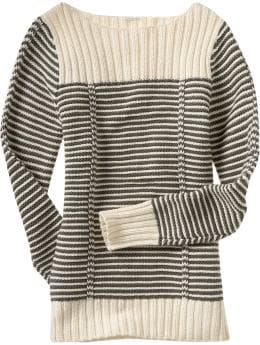 Women: Women's Garter-Stitch Sweaters: French-Inspired Fashions | Old Navy :  boat sweater sailor hamptons dressy