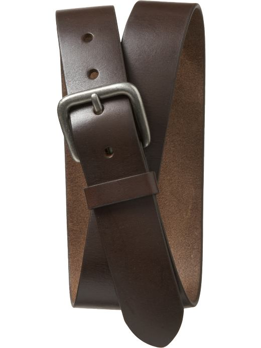 Old Navy Mens Basic Leather Belts