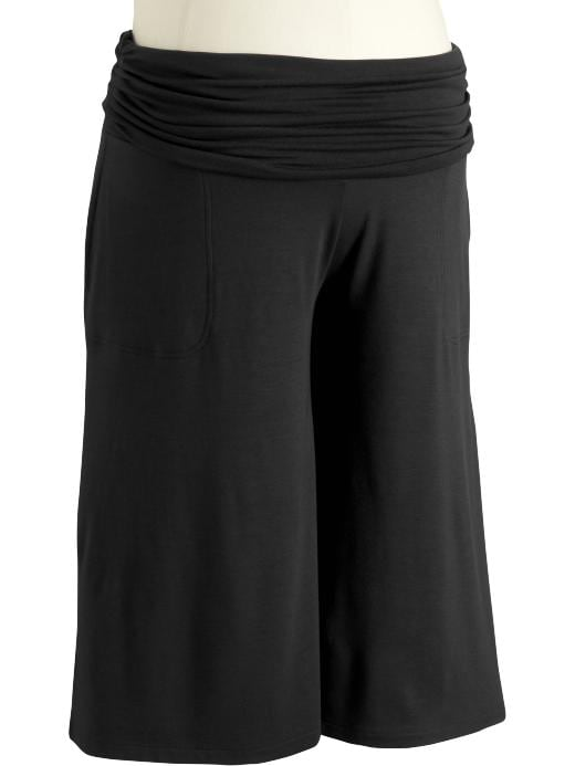 Old Navy Maternity Shirred Roll Panel Gauchos