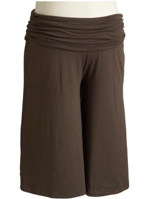 Old Navy Maternity Shirred Roll-Panel Gauchos