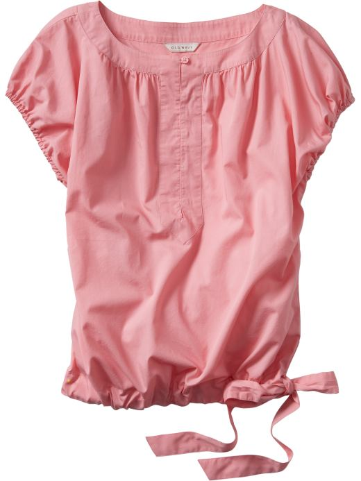 Women: Women's Poplin Drawstring Tops: Fashion Tops: Shirts | Old Navy from oldnavy.com