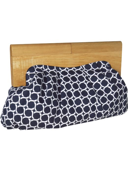 Women's Wooden-Handle Canvas Clutches: Pattern Play | Old Navy :  patterned handbags retro wooden handle