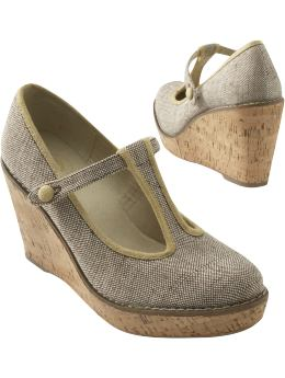Women: Women's T-Strap Cork Wedges: French-Inspired Fashions | Old Navy from oldnavy.com