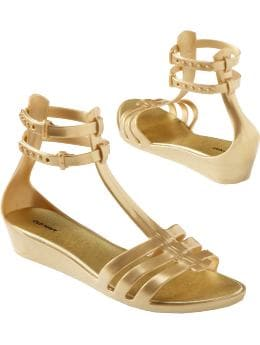 Women: Women's Ankle-Strap Gladiator Jelly Sandals - Sunny Side Up