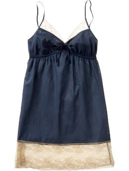 Women's Clothes: Women's Lace-Trim Voile Chemises: Chemises & Robes Loungewear | Old Navy :  lingerie lace-trim voile chemise old navy