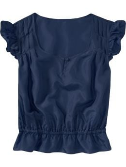 Women's Clothes: Women's Silk Keyhole Tops: New Arrivals | Old Navy :  keyhole tops silk women