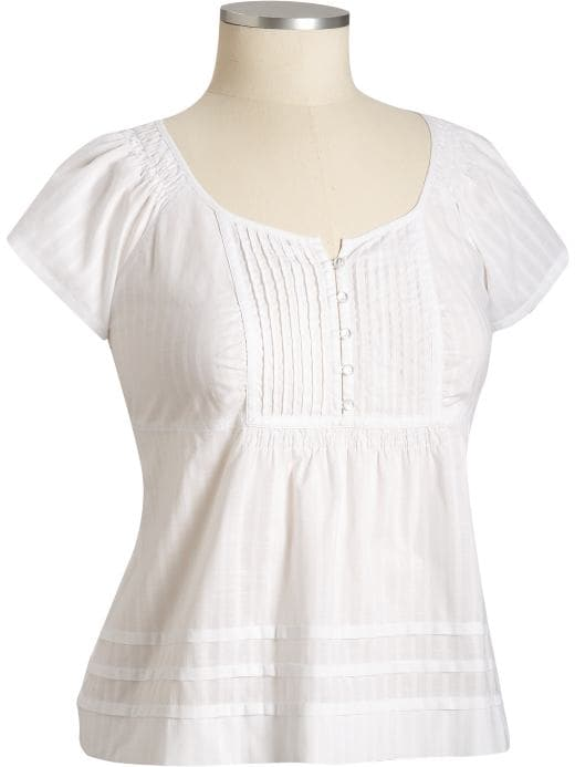 Pleated Smocked Top :  spring winter autumn summer