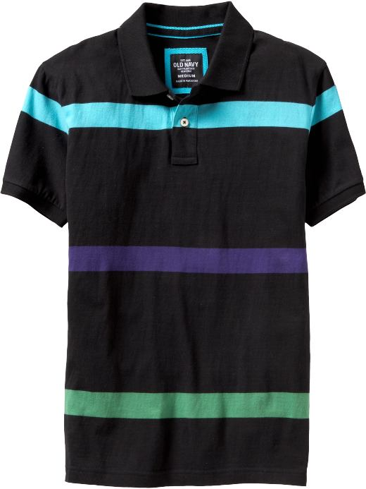 Men's Clothes: Men's Fitted Striped Polos: New Arrivals | Old Navy