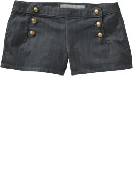 "Women's Clothes: Women's Button-Front Denim Shorts (2 1/2""): Bargains 