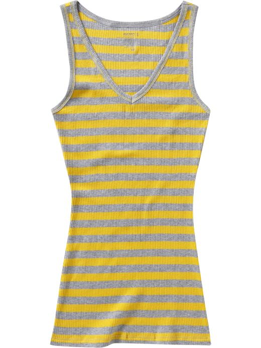 Women's Clothes: Women's Striped Rib-Knit Tanks: Women $6 and Under Gifts | Old Navy :  spring womens summer horizontal stripes
