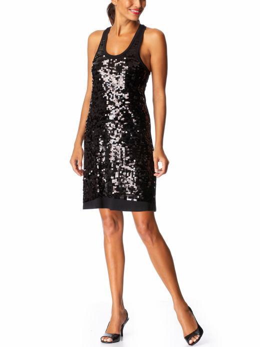 Women's Sequined Racerback Dresses :  racerback sequin dress