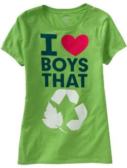 Women's Clothes: Women's Organic Cotton Eco-Humor Tees: Graphic Tees Tees & Polos | Old Navy