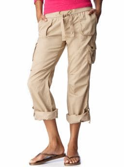 Women's Clothes: Women's Low-Rise Roll-Up Cargos: Casual Pants Pants | Old Navy :  roll up pants cargo low rise