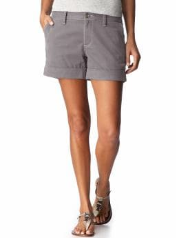 Women's Clothes: Women's Cuffed Twill Shorts (5