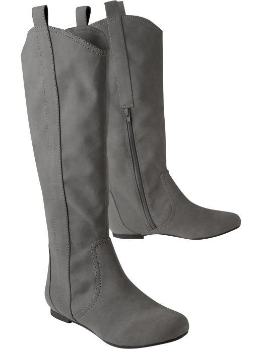 Shoes and Accessories: Women's Faux-Suede Knee-High Boots: New Arrivals | Old Navy