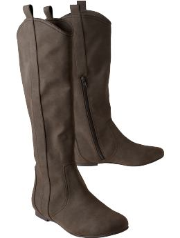 Shoes and Accessories: Women's Faux-Suede Knee-High Boots: Boots Shoes & Slippers | Old Navy