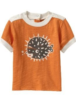 Baby Boys: Sea Creature Graphic Tees for Baby - Tangelo