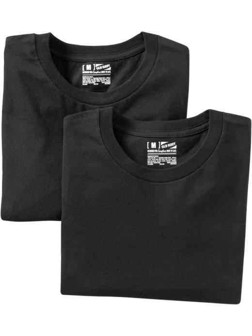 Old Navy Mens Crew Neck Undershirt 2 Packs