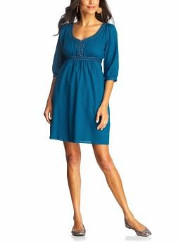 Women's Clothes: Women's Gauze-Twill 3/4-Sleeve Dresses: Prints & Details Dresses | Old Navy