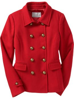 Old Navy Women's Wool-Blend Cadet Jacket