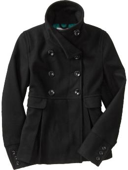 Women's Clothes: Women's Wool-Blend Swing Coats: Outerwear | Old Navy
