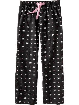 Women: Women's Halloween-Print Lounge Pants - Black Skulls
