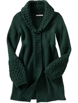 Women's Clothes: Women's Chunky-Knit Sweater Coats: Apparel New Arrivals | Old Navy