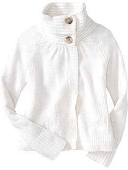 Women: Women's Cropped Sweater-Knit Swing Coats - Marshmallow White