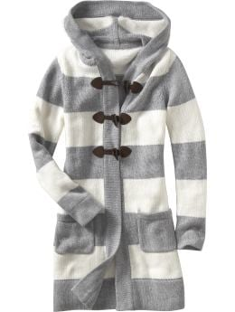 Women's Clothes: Women's Striped Toggle-Front Sweater Coats: Long-Sleeve Sweaters | Old Navy from oldnavy.gap.com