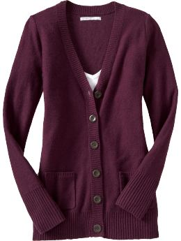 Women's Bouclé Button-Front Cardigans-Old Navy