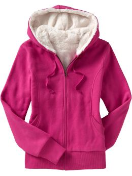 Women's Clothes: Women's Faux Fur-Lined Zip Hoodies: Hoodies | Old Navy