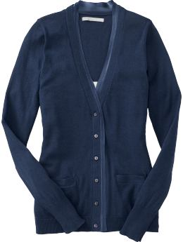 Women: Women's Satin-Trim Cardigans - Goodnight Nora