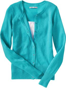 Women: Women's Faux-Gem Buttoned Cardigans - Endless Summer