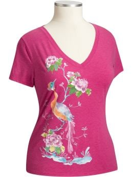 Women's Plus Size Clothes: Women's Plus Watercolor-Graphic V-Neck Tees: Graphic Tees | Old Navy