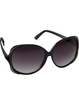 Women: Women's Metal-Trim Sunglasses - Black