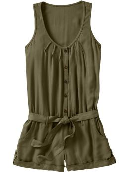 Women's Clothes: Women's Button-Front Twill Rompers: Apparel New Arrivals | Old Navy :  romper twill clothing lightweight