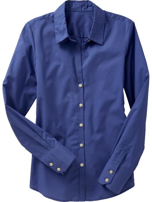 Old Navy Womens Poplin-Stretch Dress Shirt