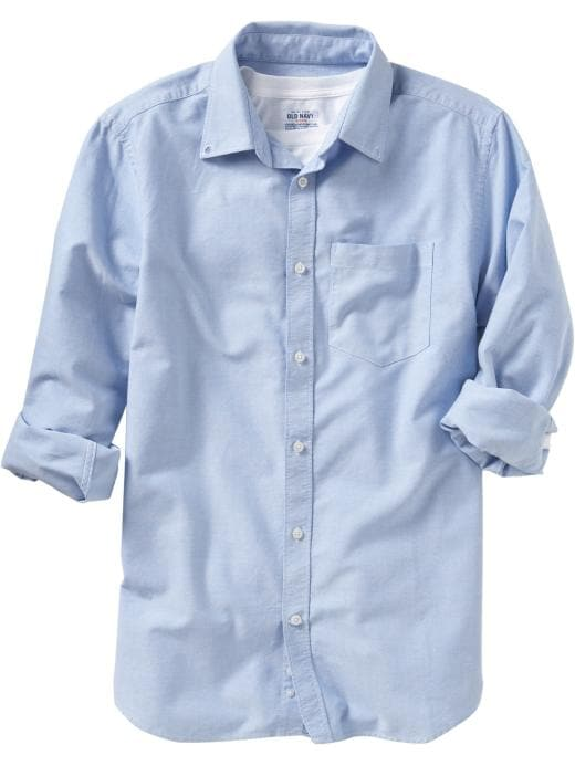 Old Navy Mens Oxford Chest Pocket Shirt
