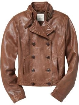 Women's Buckle-Trimmed Real Leather Jackets | Old Navy