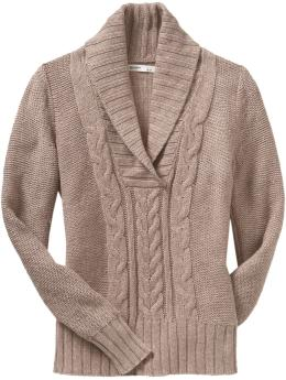Women's Cable-Knit Shawl-Collar Sweaters | Old Navy