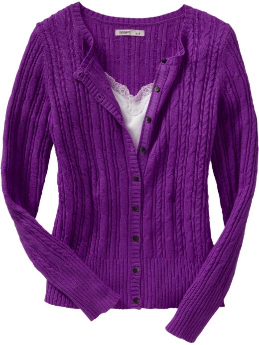 Old Navy Womens Cable-Knit Cardigans