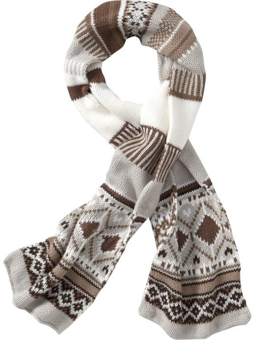 Old Navy Womens Fair Isle Knit Scarves