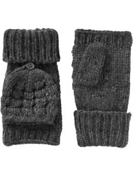 Women's Convertible Cable-Knit Mittens | Old Navy